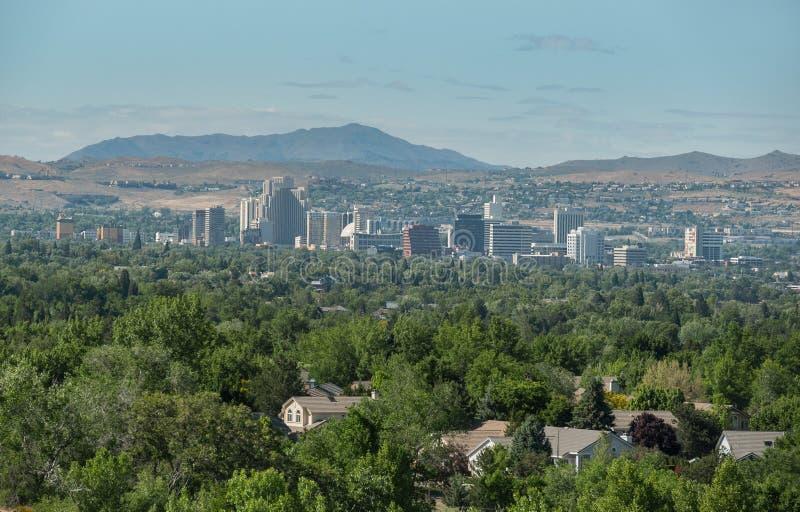 Skyline do centro, Reno, Nevada imagem de stock