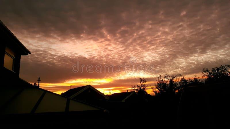 Skyline do crepúsculo foto de stock