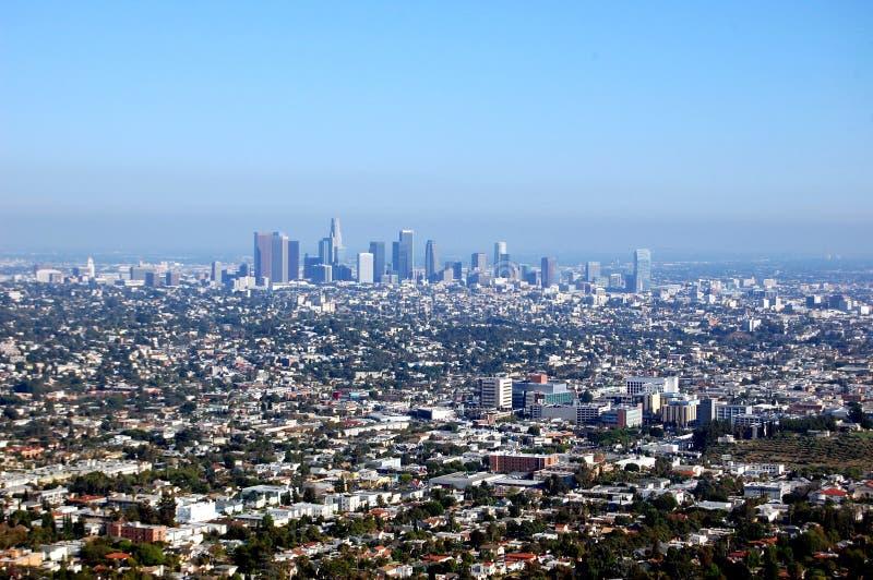 Skyline do LA foto de stock