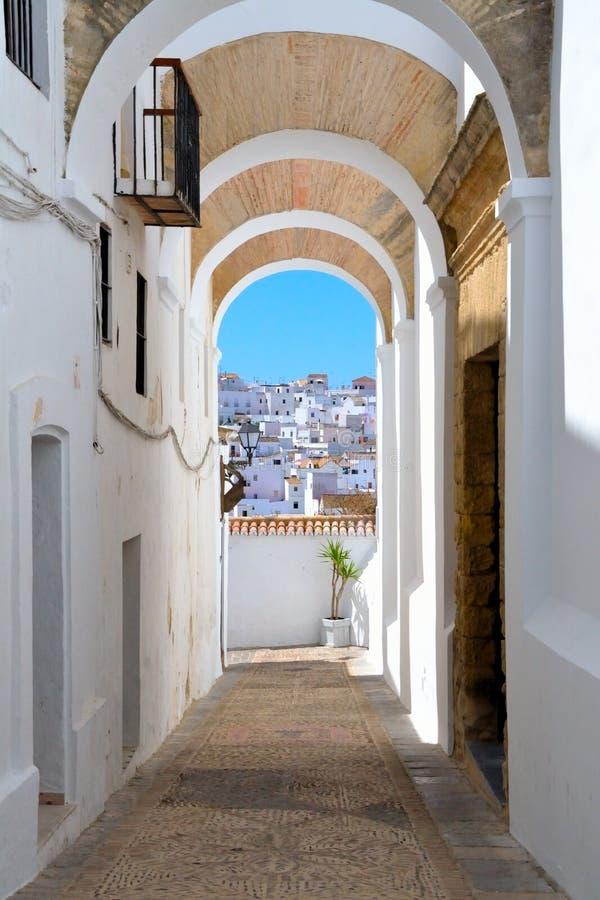 Skyline do la Frontera de Vejer de, a Andaluzia, Espanha imagens de stock royalty free