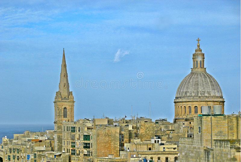 Skyline do La valletta, Malta fotos de stock royalty free