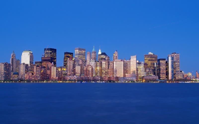 Skyline do Lower Manhattan fotos de stock