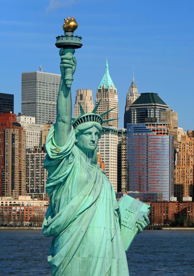 A skyline do Lower Manhattan fotografia de stock