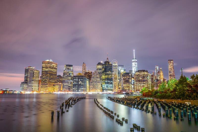 Skyline do Lower Manhattan fotografia de stock royalty free