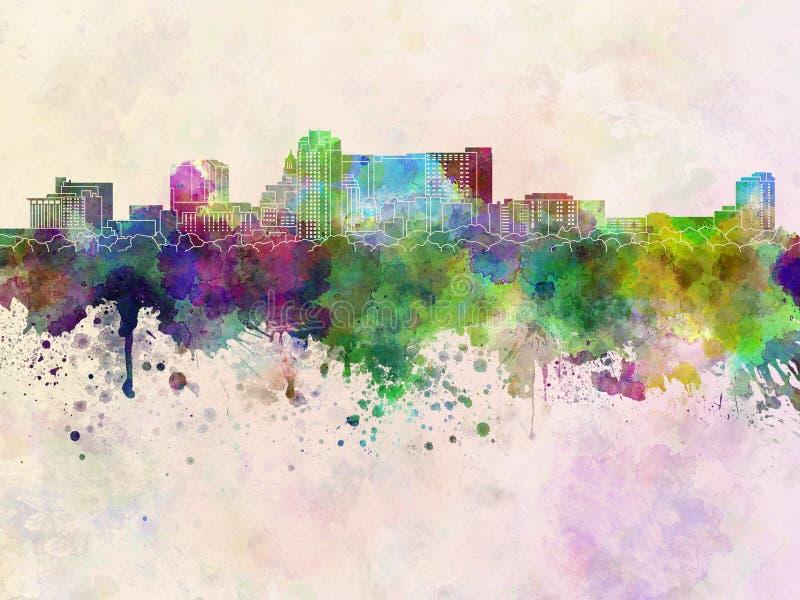 Skyline do manganês de Rochester na aquarela ilustração do vetor