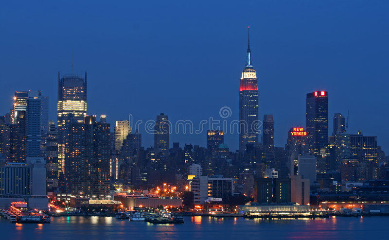 Skyline do Midtown de Manhattan foto de stock royalty free