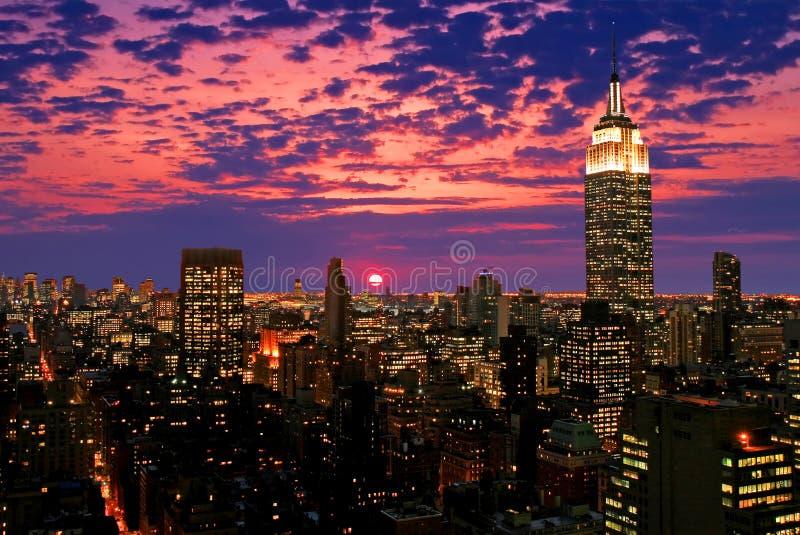 Skyline do Midtown de New York City fotografia de stock royalty free