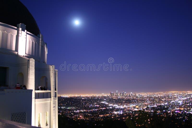 Skyline do obervatório e da Los Angeles de Griffith fotografia de stock royalty free