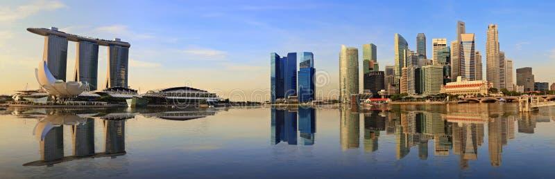 Skyline do panorama de Singapura fotografia de stock