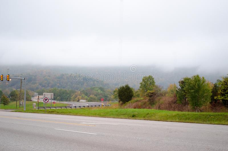 A skyline do parque nacional de Shenandoah fotos de stock royalty free
