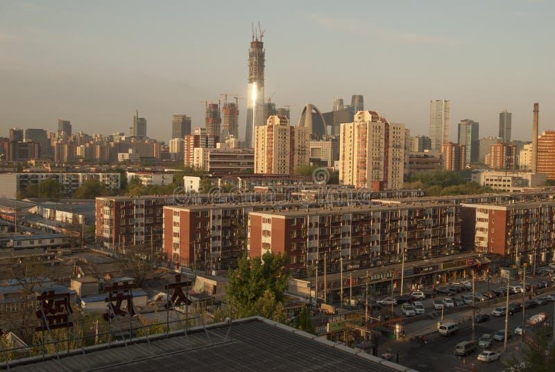Skyline do Pequim imagens de stock