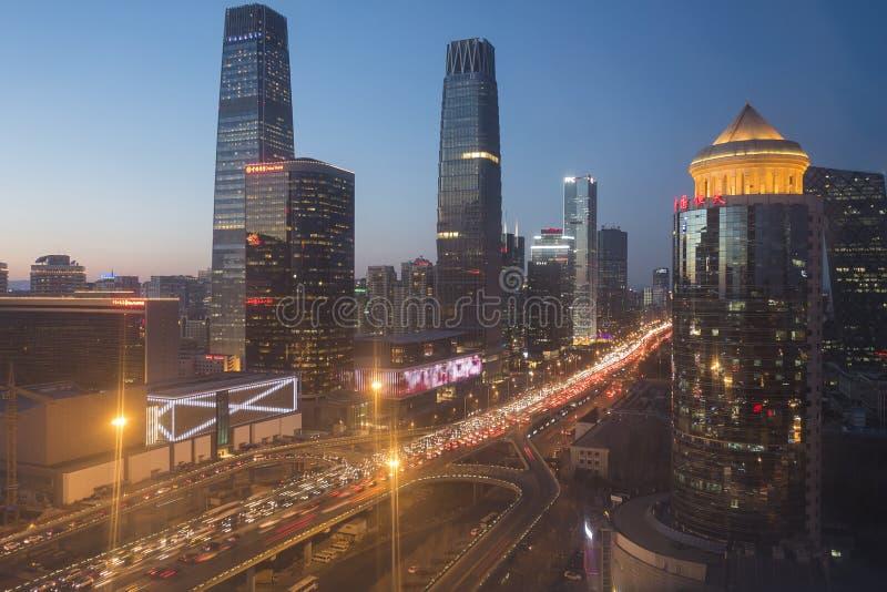 Skyline do Pequim CBD foto de stock