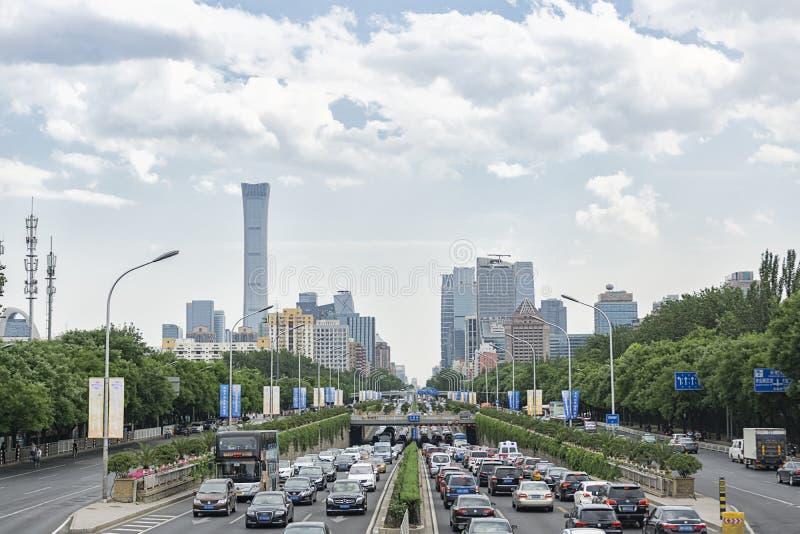 Skyline do Pequim fotos de stock royalty free
