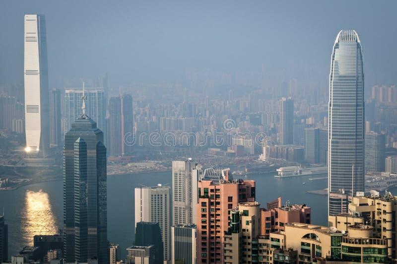 Skyline do pico, China de Hong Kong imagem de stock royalty free