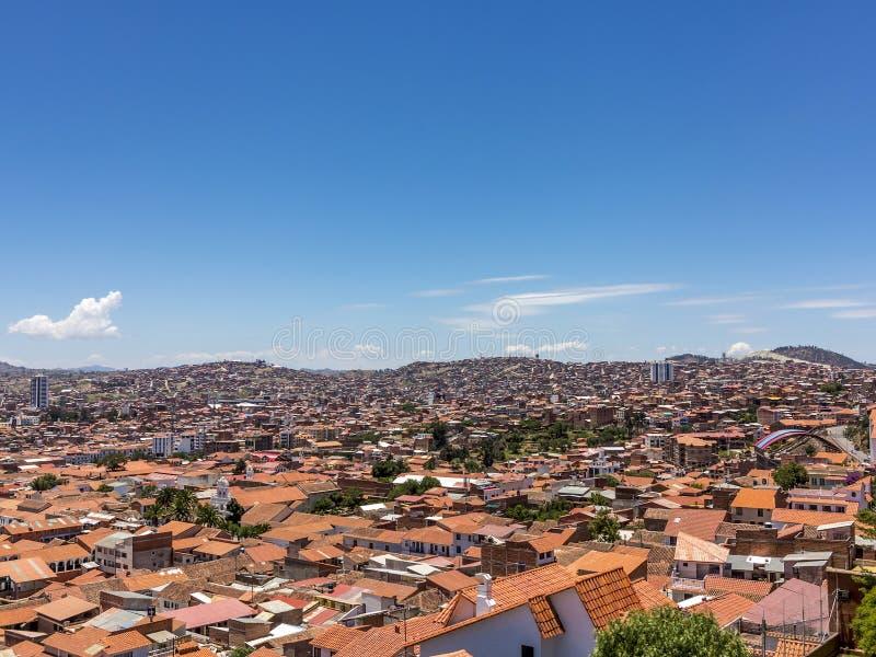 Skyline do sucre, Bolívia foto de stock royalty free