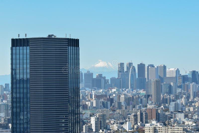 Skyline do Tóquio e Mt Fuji imagem de stock