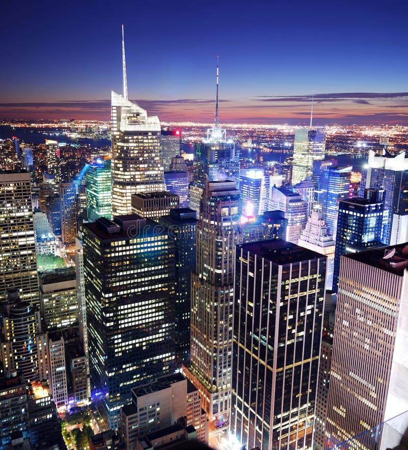 Skyline do Times Square de New York City Manhattan imagens de stock