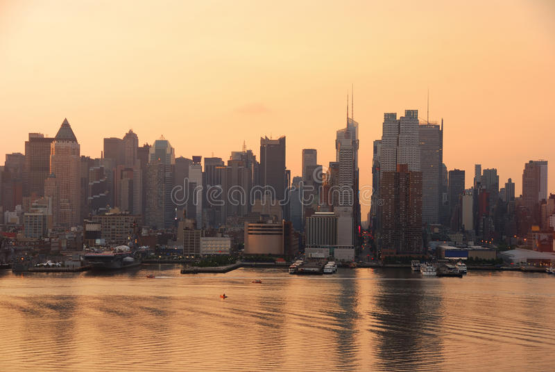 Skyline do Times Square, New York City imagens de stock royalty free