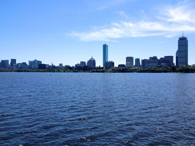 Skyline do verão de Boston fotos de stock