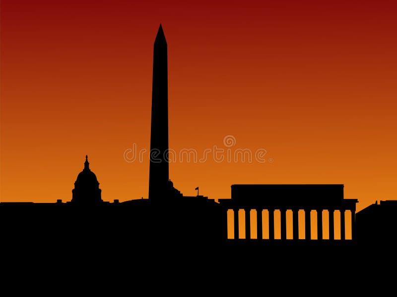 Skyline do Washington DC ilustração do vetor