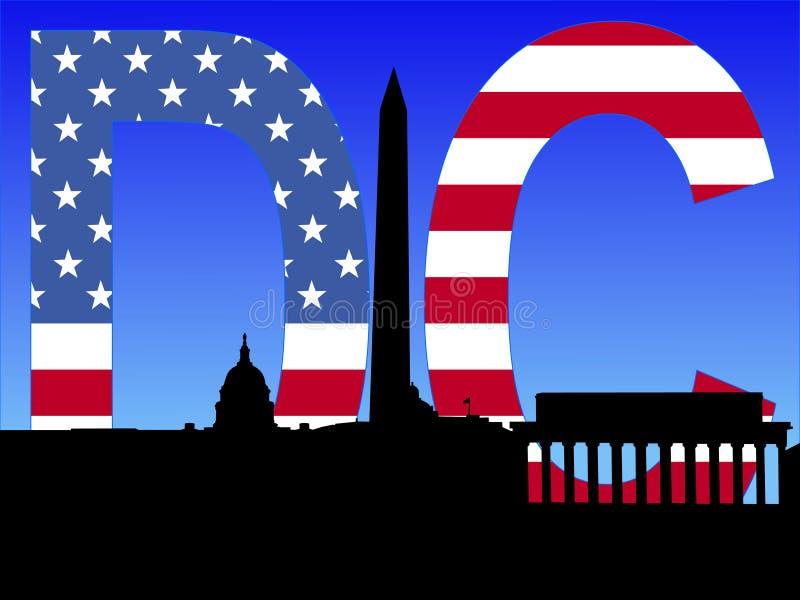 Skyline do Washington DC ilustração royalty free