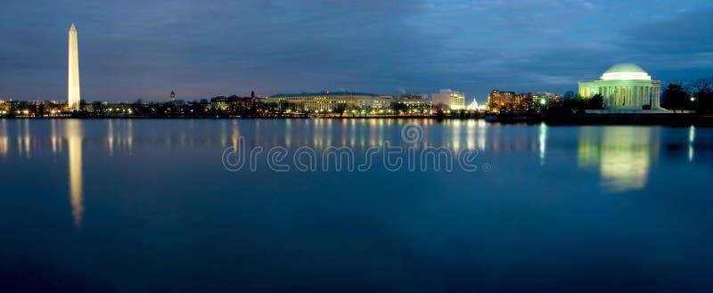 Skyline do Washington DC imagens de stock