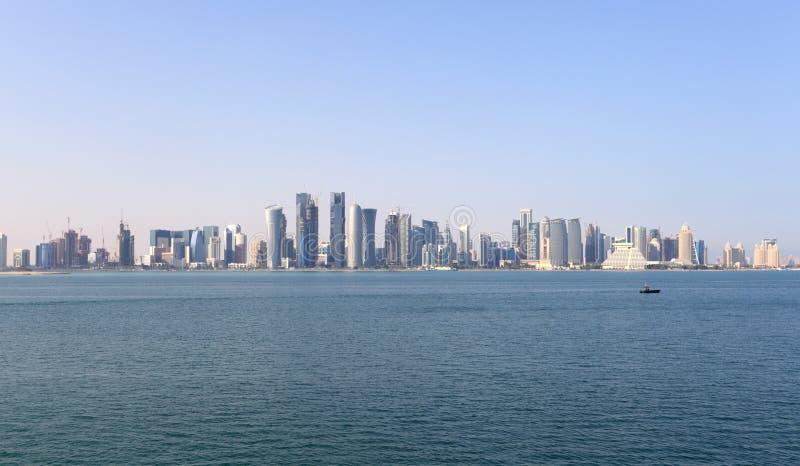 Download Skyline of Doha downtown stock image. Image of dafna - 23649315