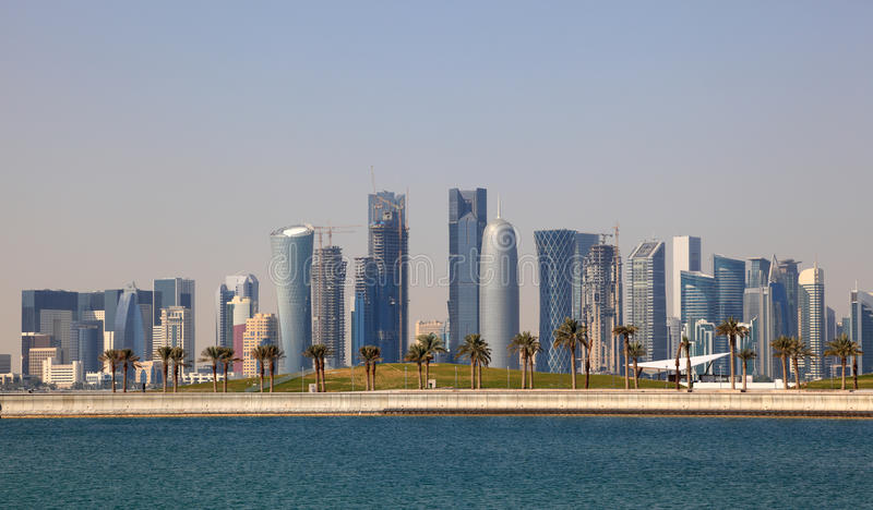 Download Skyline Of Doha Downtown Royalty Free Stock Photography - Image: 23719247