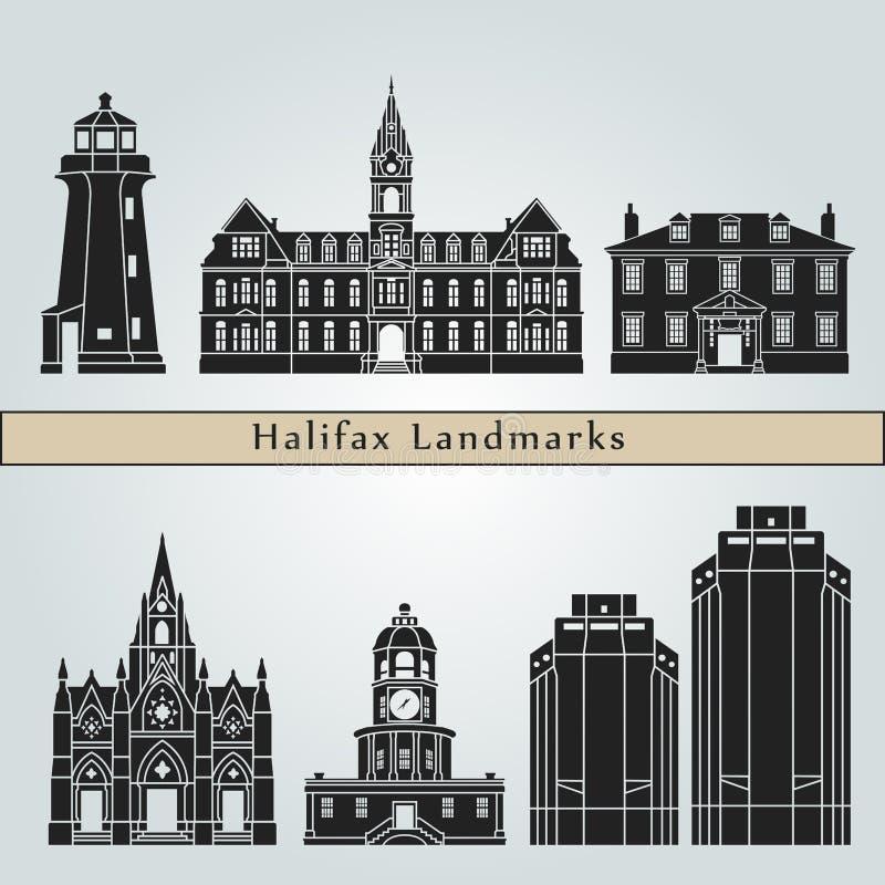 Skyline dos marcos de Halifax ilustração royalty free