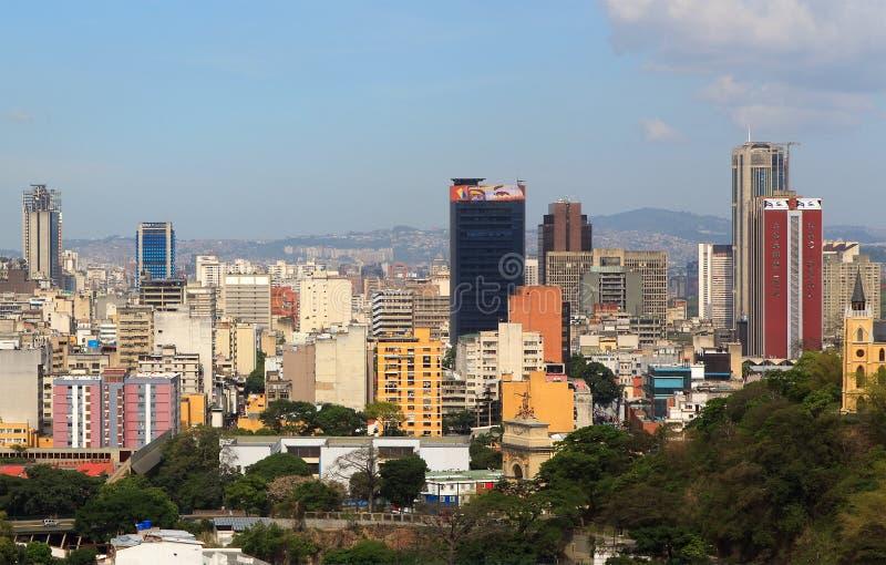 Skyline of downtown Caracas - Venezuela royalty free stock photos