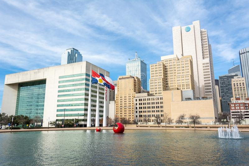 Skyline in downtown Dallas, TX royalty free stock images