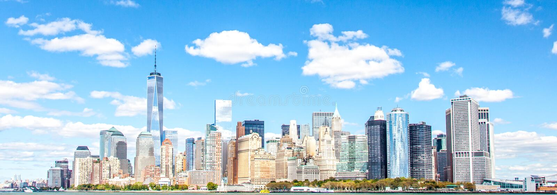 Skyline downtown Manhattan. New York City stock image