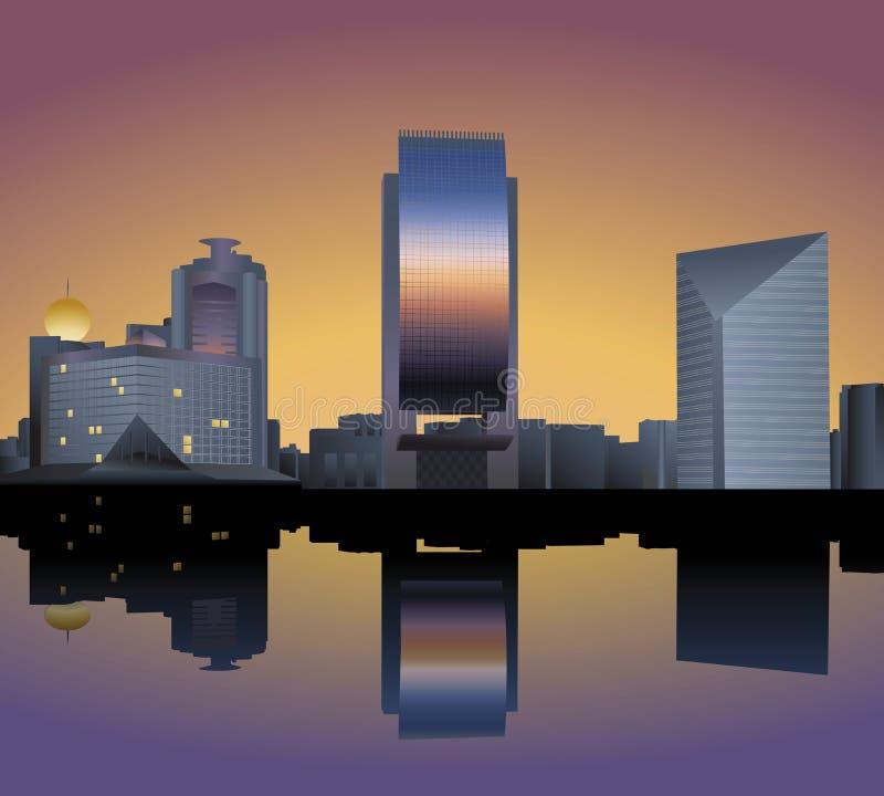 Skyline of Dubai vector illustration