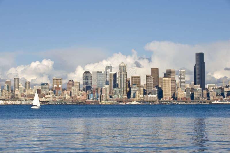 Skyline e beira-rio de Seattle imagem de stock royalty free