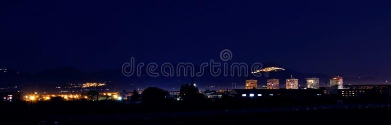 Skyline em Basilicata fotos de stock royalty free