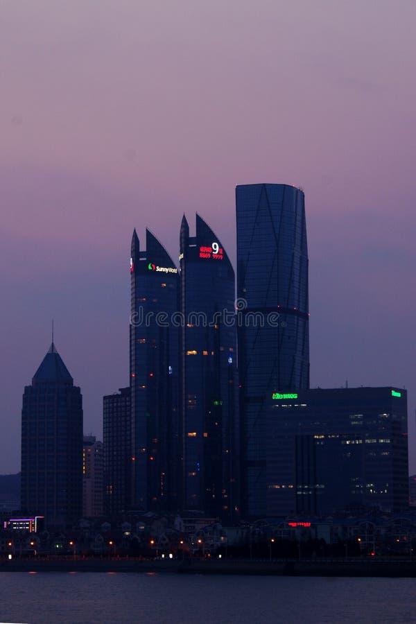 A skyline em qingdao fotografia de stock