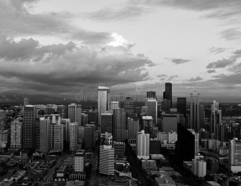 Skyline em Seattle imagens de stock