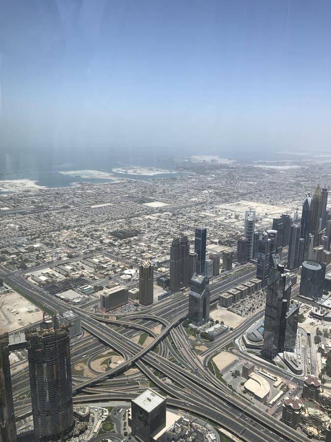 View from burj Khalifa Dubai stock images