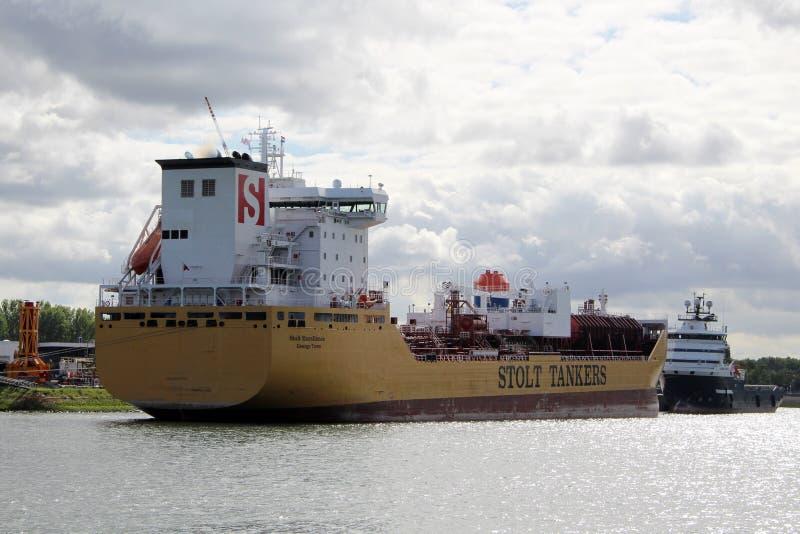 Skyline et port de Rotterdam Pays-Bas images stock