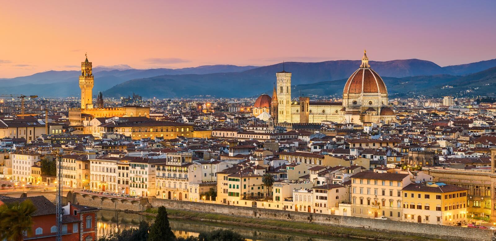 Skyline of Florence, Italy royalty free stock photography