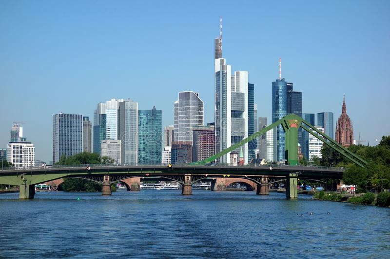 Skyline of Frankfurt Main. Germany, Financial District royalty free stock images