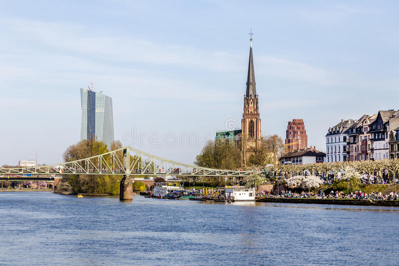 Download Skyline Of Frankfurt With River Main Stock Photo - Image of cathedral, river: 39501282