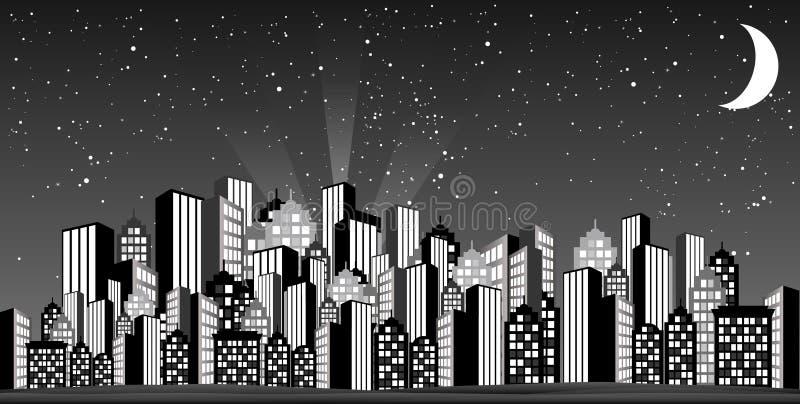 Skyline glamoroso ilustração stock