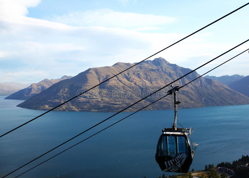 Skyline-Gondel, Queenstown, Neuseeland stockbild