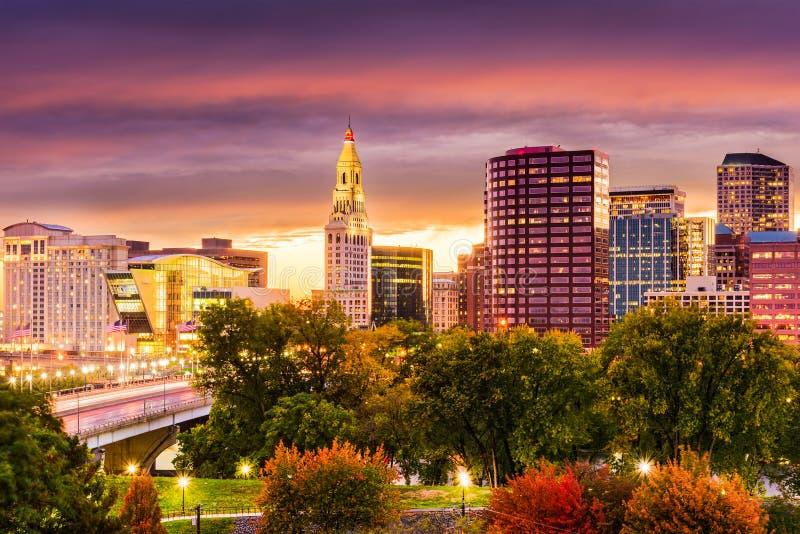 Skyline Hartford-Connecticut stockfoto