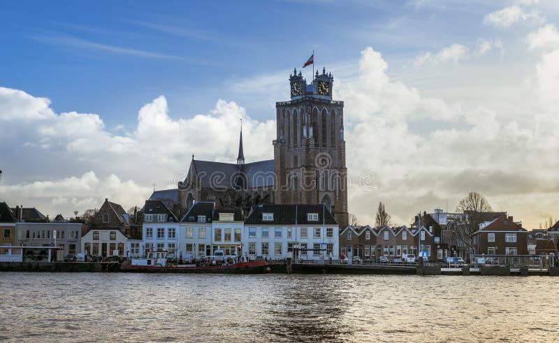 Skyline holland de Dordrecht foto de stock