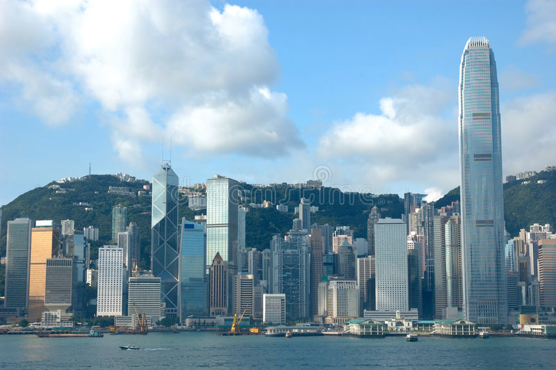 Skyline of Hong Kong stock photography