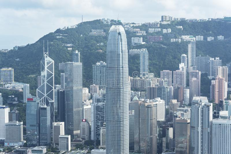 Skyline of Hong Kong city stock photos