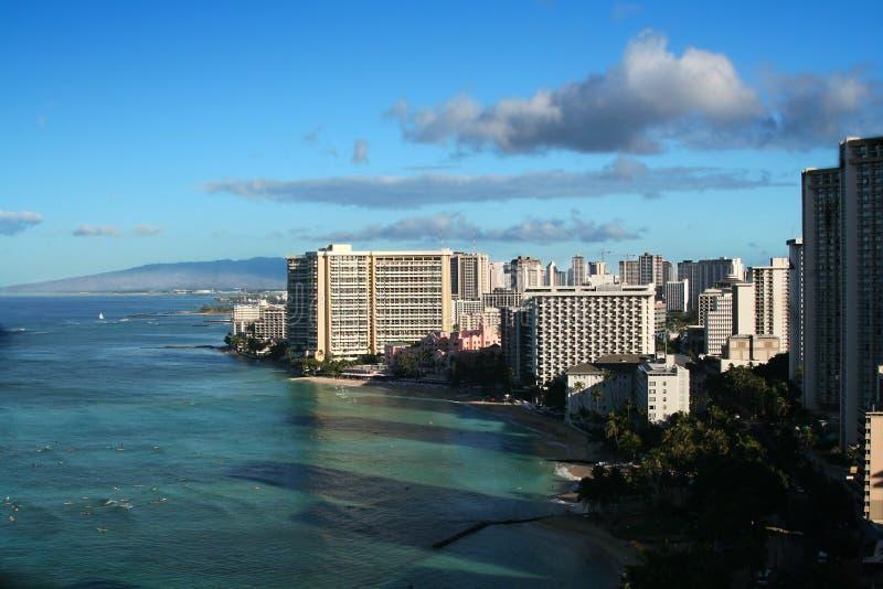 Skyline In Honolulu Royalty Free Stock Photos