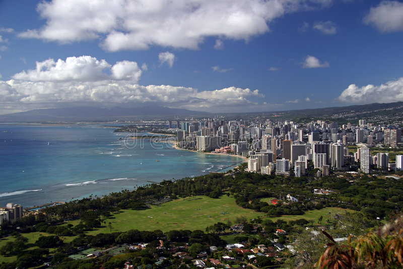 Skyline Honolulu-, Hawaii stockfoto